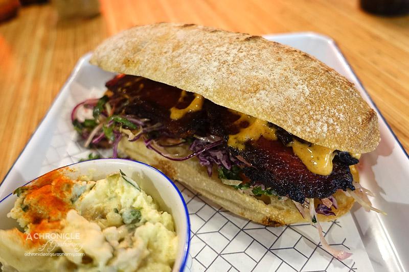 Rustica Canteen - Smoked Beef Brisket, Carrot, Red Cabbage Slaw, Chipotle Aioli, Ciabatta ($15)