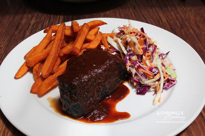 Railway Hotel - BBQ Brisket - 12 Hour BBQ Brisket, Sweet Potato Fries and Slaw $29