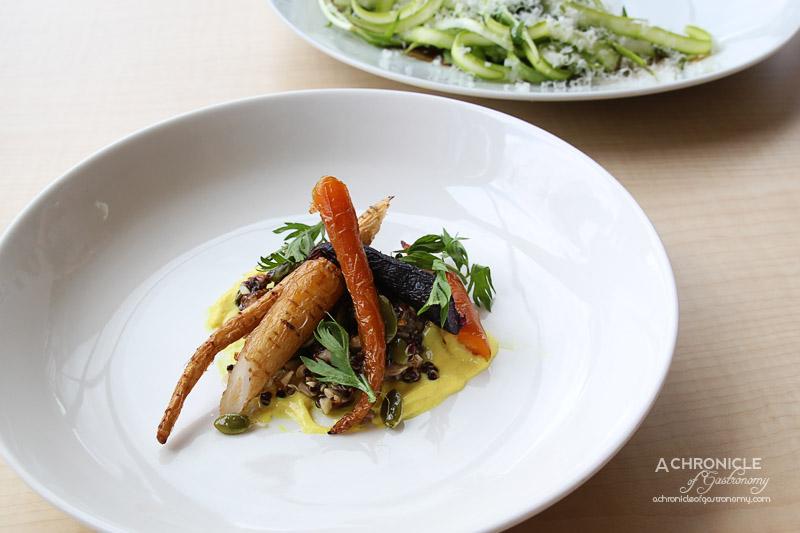 Rochford Restaurant - Heirloom Carrots, Quinoa, Seeds, Dates, Smoked Almonds, Orange Blossom Labne $19