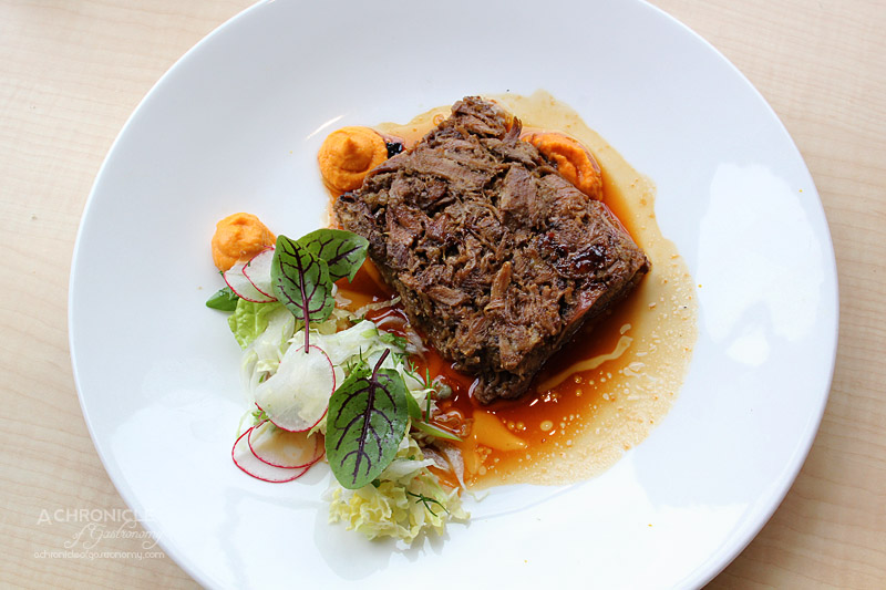 Rochford Restaurant - Slow-cooked Lamb Shoulder, Carrot Hummous, Spring Slaw $34