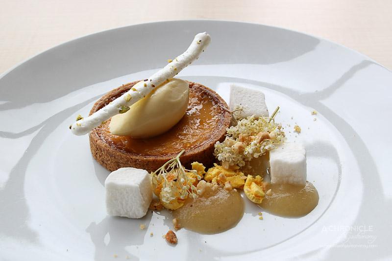 Rochford Restaurant - Salted Caramel Tart, Pear, Ginger Praline, Mascarpone $15
