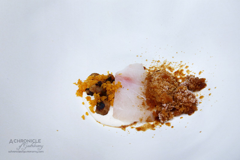 Lume - 9 - Barbequed Ice with Raw Cobia, Shiitake and Lemon Aspen