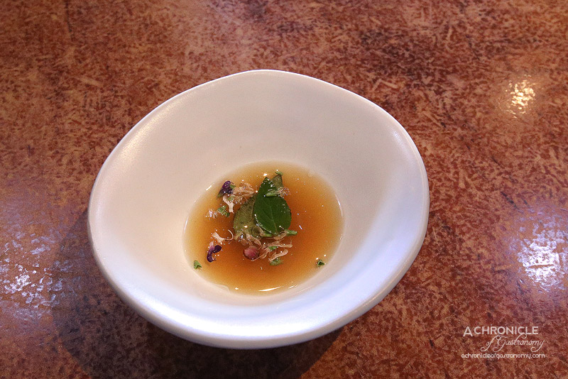 O.My - Sourdough Consomme and Sage