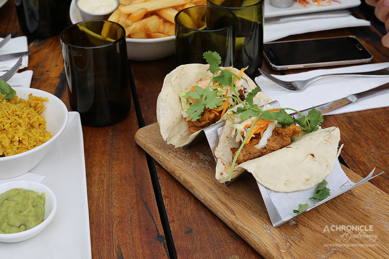 American Hotel - Tacos - Pickled Carrot, Spring Onion, Cucumber, Coriander (3 for $15.90)