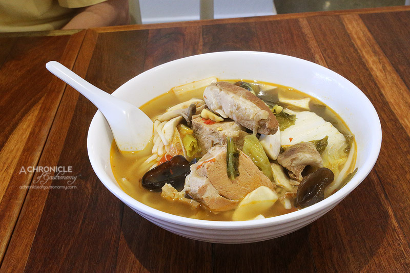 China Spice - Pickles and Pork Ribs Noodle Soup ($9.80)