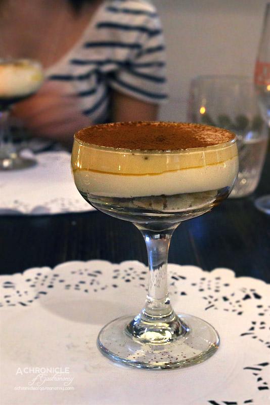 Sarti - Five Layer Hot and Cold Tiramisu - Coffee Jelly, Crunchy Savoiardi Biscuit, Chocolate, Mascarpone, Zabaione