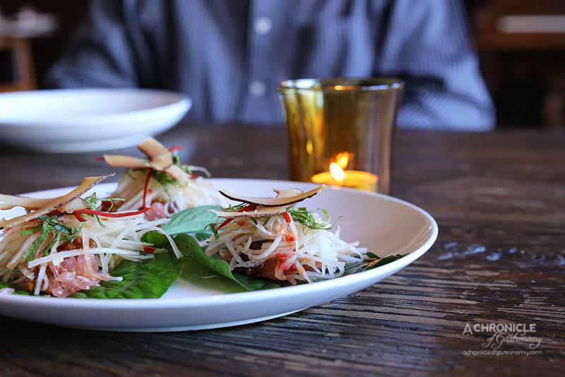 The Piano Restaurant & Bar - Betel Leaf (Veggie) - Pomelo, Flat Leaf Coriander, Mint, Green Papaya, Peanuts, Toasted Coconut ($3.50 each)
