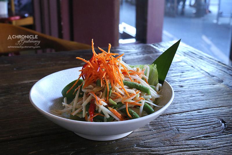 The Piano Restaurant & Bar - Green Papaya Salad (Somtum) - Shredded Green Papaya, Carrot, Tomato, Snake Beans, Peanuts, Chilli and Lime Juice