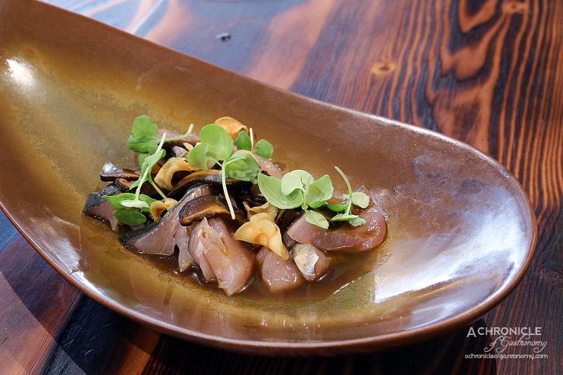 Pastuso - Bonito Nikkei - Bonito with Braised Shiitake Mushrooms, Aji Mirasol and Rice Wine Vinegar Dressing