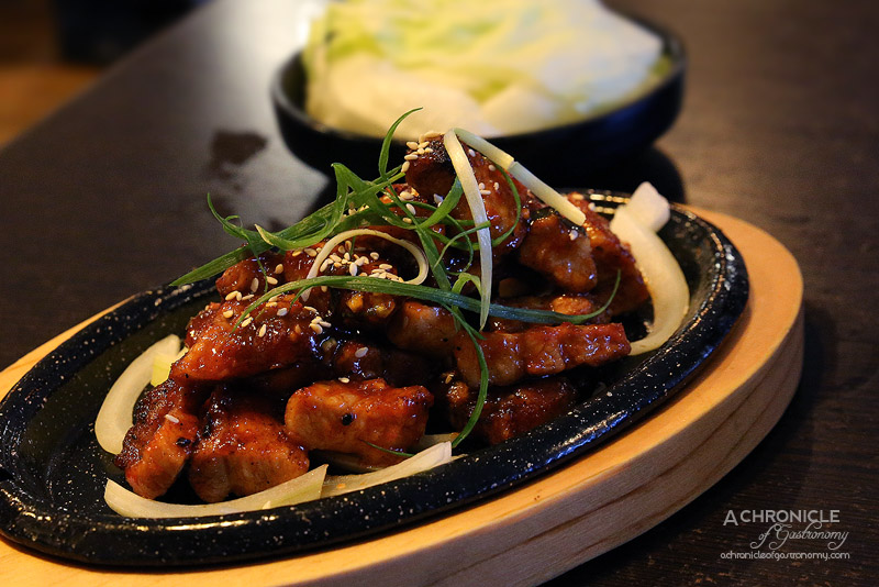 Arisoo - Marinated Pork Belly with Chilli Sauce ($18)
