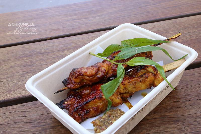 Bang Bang Pop-up at Boatbuilders Yard - Grilled Chicken Skewers - Turmeric, Wild Ginger, Eggplant & Kampot Relish ($11)