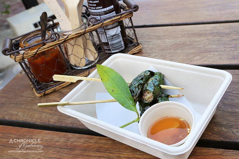 Bang Bang Pop-up - Beef in Betel Leaf - Lemongrass, Vietnamese Mint, Nuoc Cham ($12)