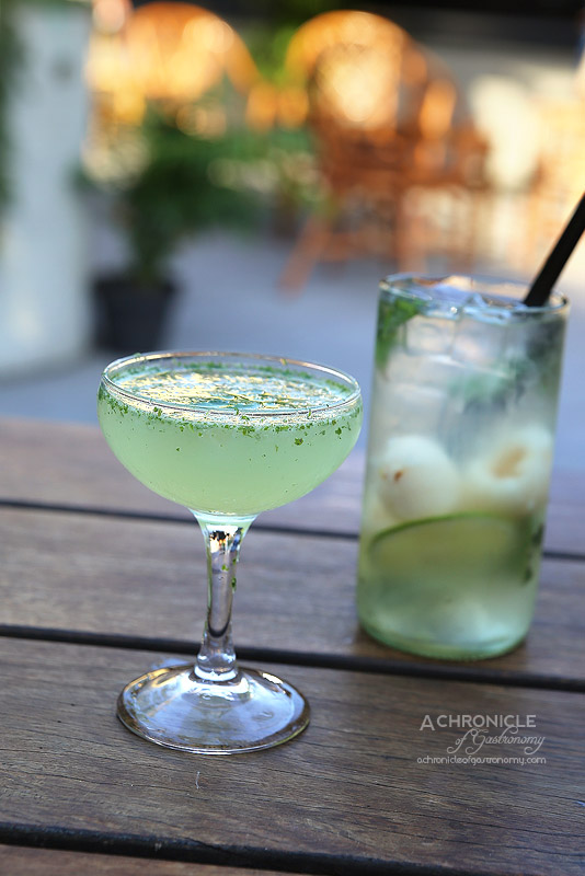 Bang Bang Pop-up at Boatbuilders Yard - South-east Side - Four Pillars Navy Strength Gin, Mint ($12); Lychee Sangria ($9)