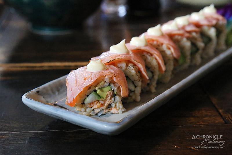 Ni Roll - Lobster, avocado, cucumber filled inside out brown rice roll ...