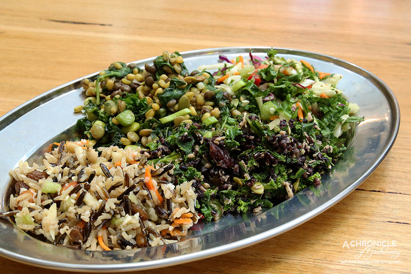 Love Pollo - Traditional and Lemon Garlic Chicken, Kaleslaw, Edamame Freekah Kale, Persian Rice, Cyprus Grains, Black Rice and Quinoa