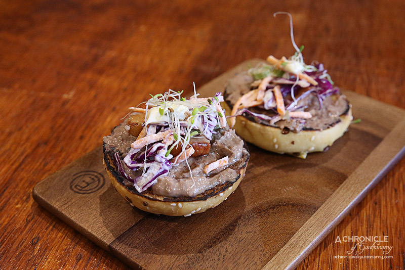 Stop 17 - Duck Liver Pate Slider - maple bacon, homemade slaw and Japanese mayo ($12)