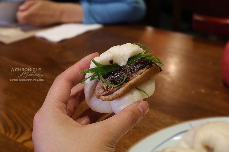 New Shanghai - Fragrant Crispy Half Duck, Steamed Buns ($35)