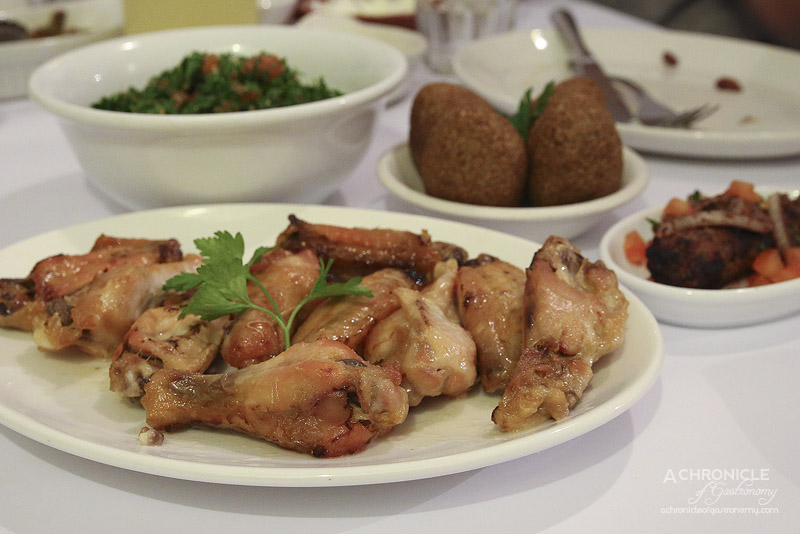 Abla's - Chicken Wings - Tender chicken wings baked with garlic and lemon juice