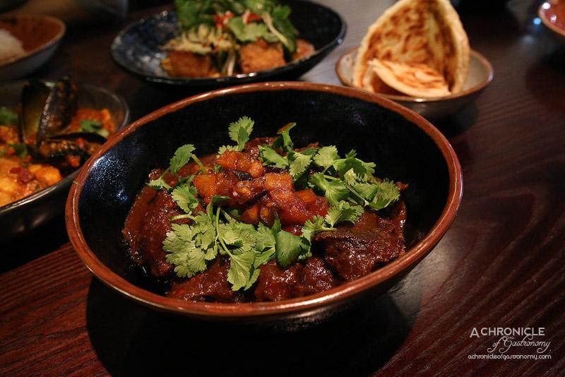 Burma Lane - Beef Cheek Curry w Chinese Broccoli & Eggplant Pickle ($32)