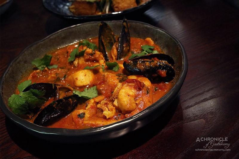 Burma Lane - Rahkine Fisherman's Stew - Spicy Seafood Tomato Stew w Bamboo Shoot & Coriander ($32)