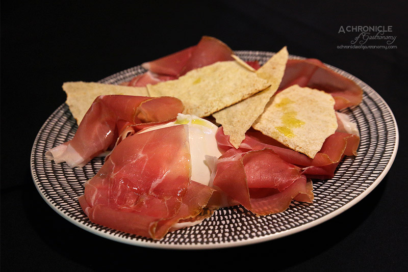 Eat'aliano by Pino - Mozzarella di Bufala and prosciutto crudo ($15)