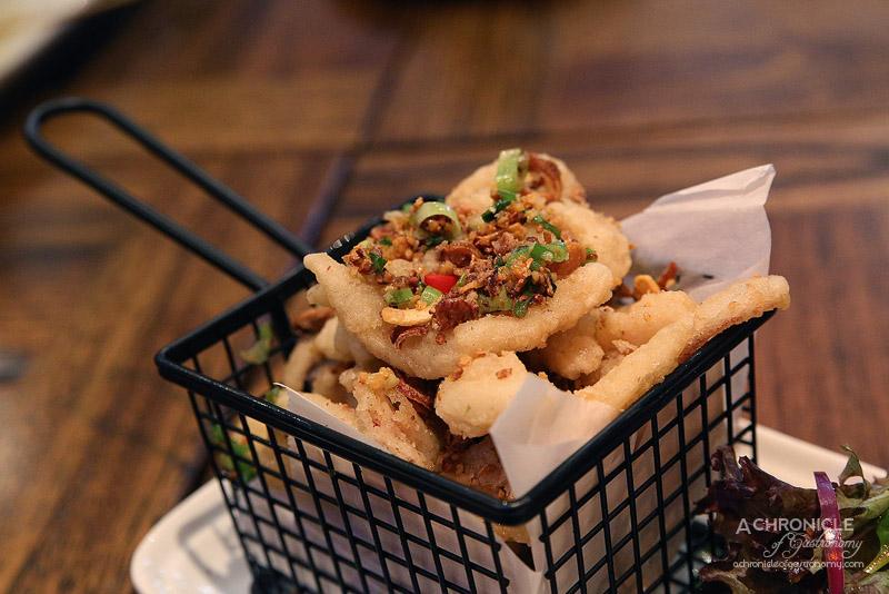 Okra - Spicy salt and pepper calamari ($14)