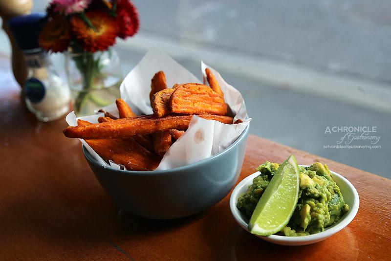 Sardi - Sweet Potato Fries with avocado salsa and lime ($7.50)