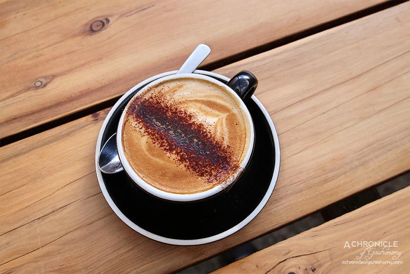 Street Talk Espresso - Cappuccino with Almond Milk ($4.80)