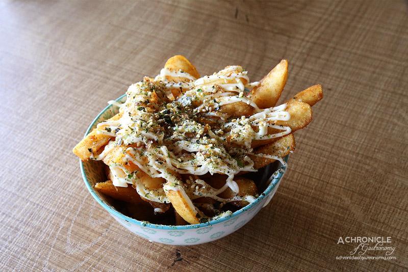 The Burger Block - Loaded beer battered chips with aioli furikake (regular, $7.50)