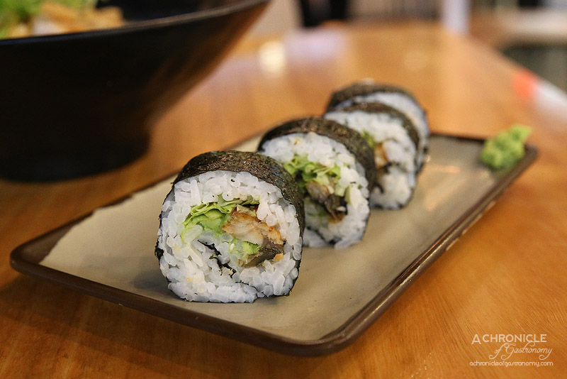 Umaido - Unagi Maki with avocado and lettuce ($3.40)