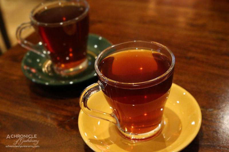 Saba's Ethiopian Restaurant - Black Spiced Tea with cardamom, chives, cinnamon