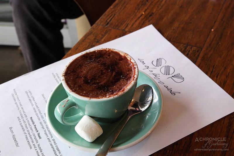 Son of a Pizzaiolo - Italian Hot Chocolate