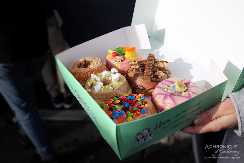 Doughnut Time - Purple Haze, Home Alone, Pass The Parcel, Love at First Bite, Lemon Sherbet, Slim Shady