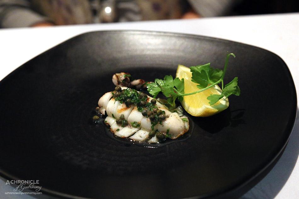 The Grand Richmond - Calamari alla griglia - Chargrilled calamari, capers, anchovies, parsley