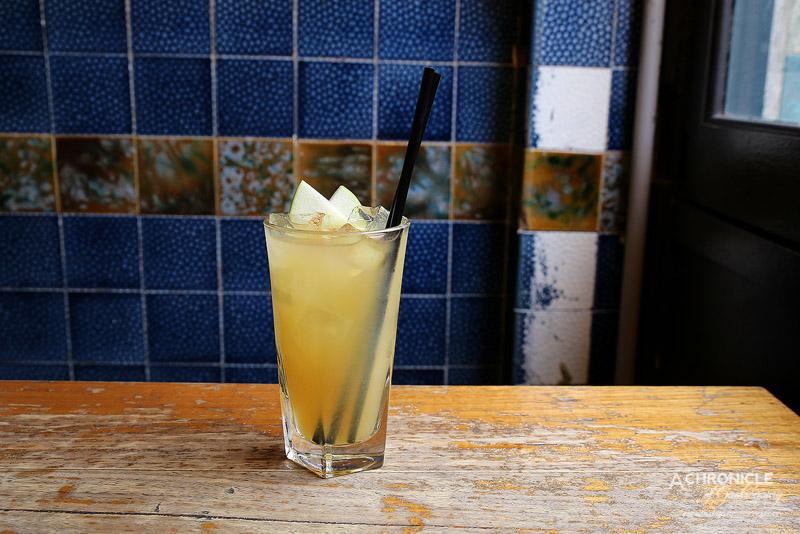 The Worker's Kitchen - Apple Pie - Fireball whisky, cloudy apple juice, lemon, cinnamon, apple ($12)