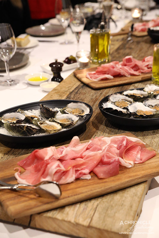 Vivace - San Daniele Prosciutto DOP Natural South Australian Oysters with shallot, citrus and prosecco vinegar ($4 ea)