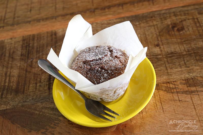 World Vegetarian Cafe - Gluten free vegan apple and cinnamon muffin ($4.95)