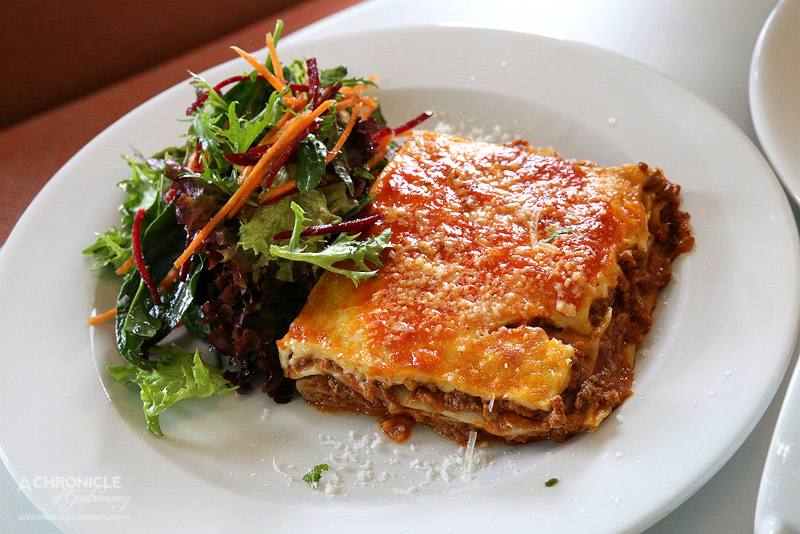 Bossy Boots - Traditional lasagne and gaden salad ($19/50)