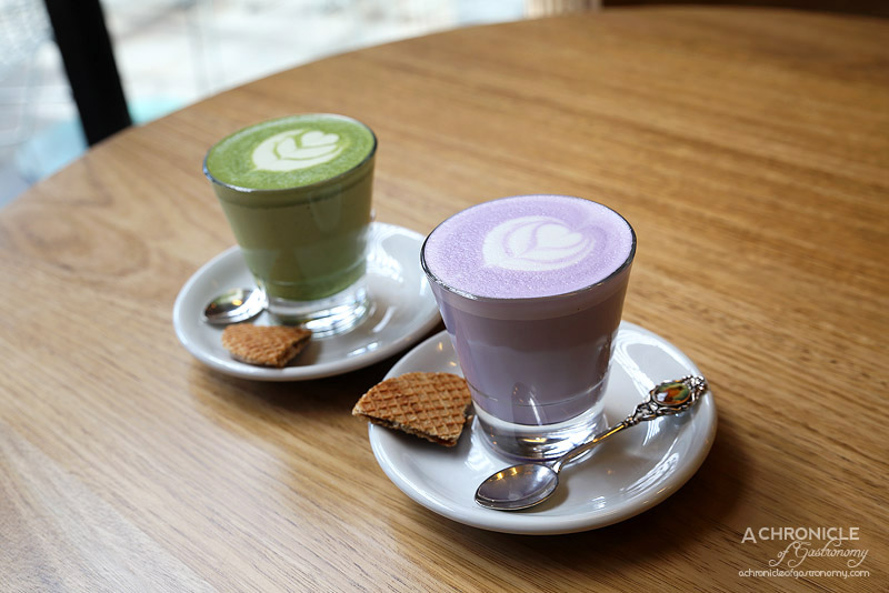 Horse on Heels - Taro Latte and Matcha Latte ($4.50)