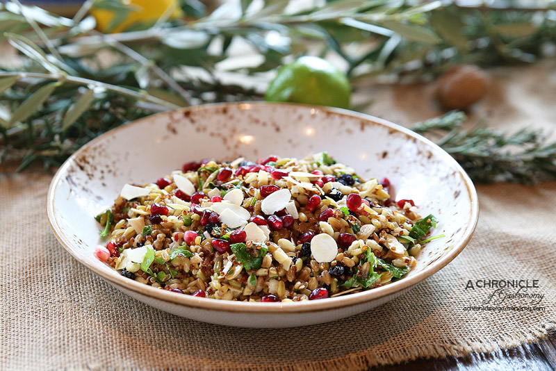 IONIO - Goddess of Grains - quinoa, barley, freekah & farro, almond, currants & pomegranate