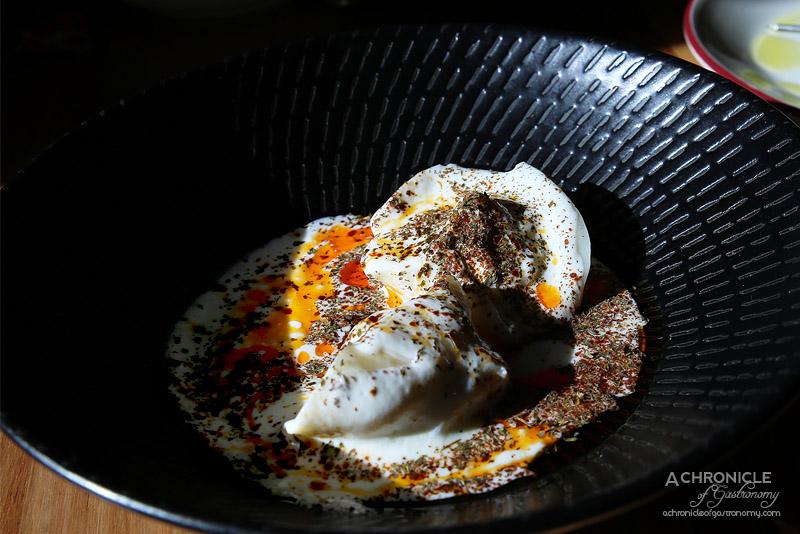 Sezar - Spanner Crab Manti - Armenian dumplings, yoghurt soup & paprika butter