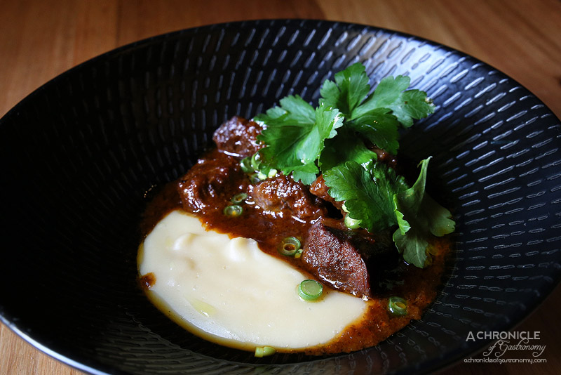 Sezar - Bastourma spiced beef cheek with smokey eggplant