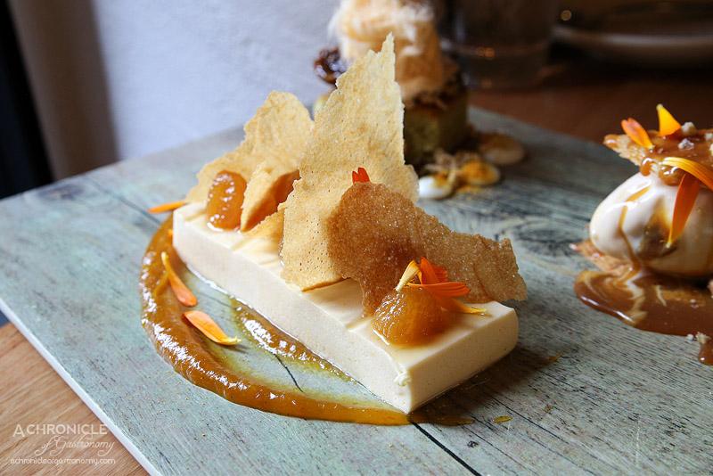 Sezar - Honey Cream - saffron poached pear, sweet brik pastry