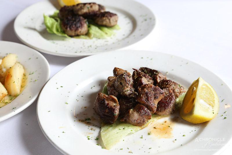 Agapi - Lamb Fillet Souvlaki ($26)