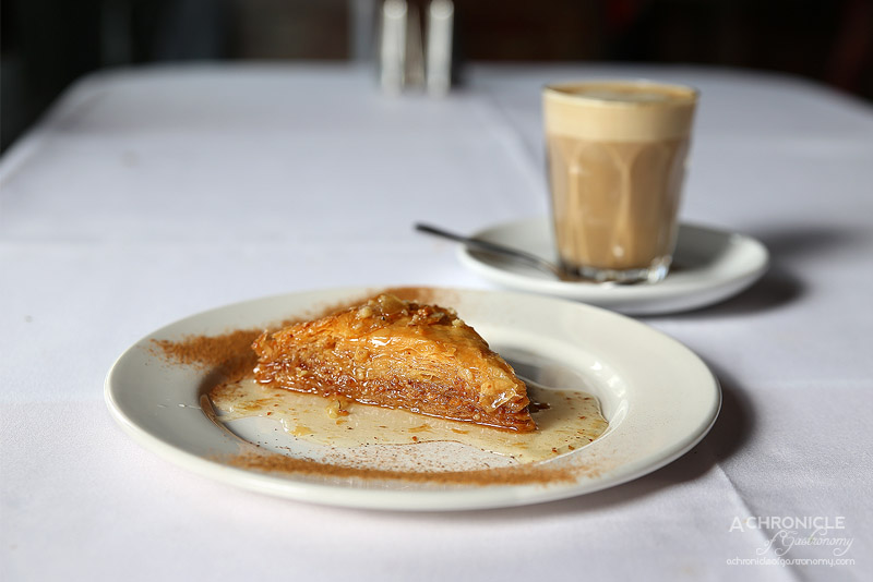 Agapi - Baklava - pastry & nuts in a syrup of honey ($7.50)
