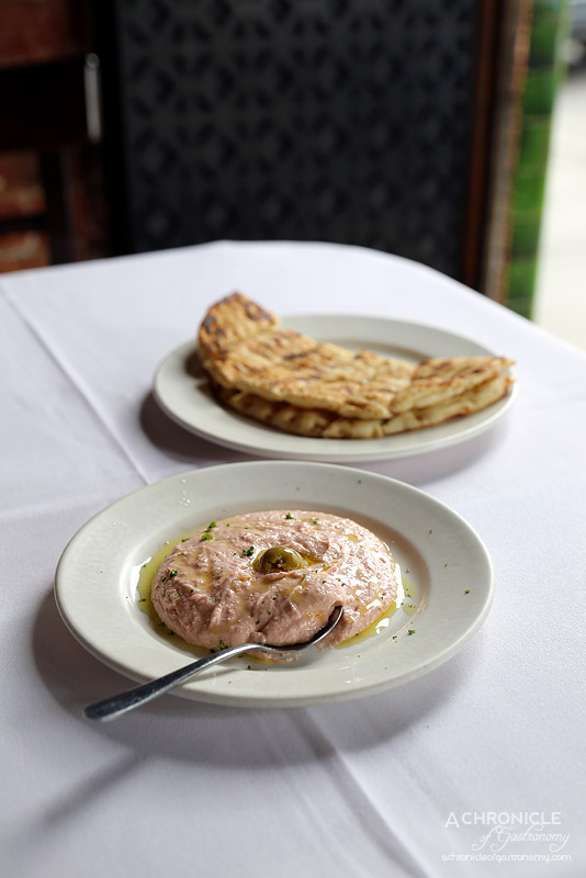 Agapi - Taramasalata - red caviar ($7.50), Hot Pita Bread ($2)