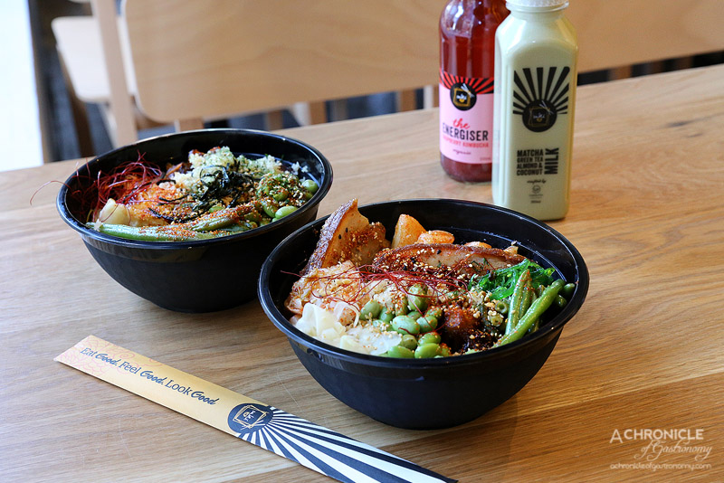 Sake Jr - Sushi Rice, Miso Glazed Cod, Wakame, Blistered Bean in Black Garlic, Edamame w Nori Salt, Crispy Brussels, Apple Soy Ginger, Chilli Thread, Togarashi, Nori, Fried Spicy Garlic