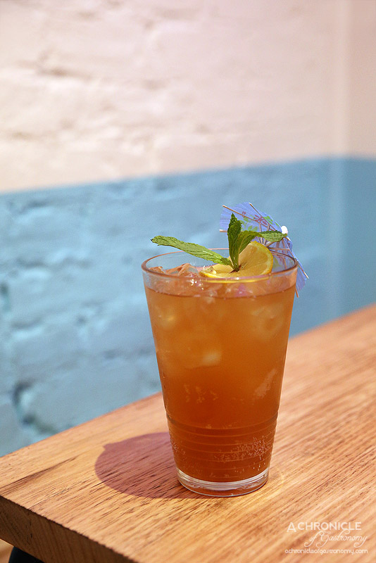 Son in Law - PP Island Ice Tea - Kahlua, Sang Som Thai Rum, Brandy, Frangelico, Whiskey, Bitters, Ginger Beer ($18)