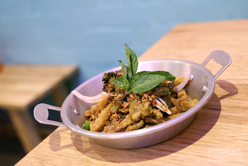 Son in Law - Tempura Broccoli & Cauliflower - Chilli jam, red onion, fried shallots ($7)
