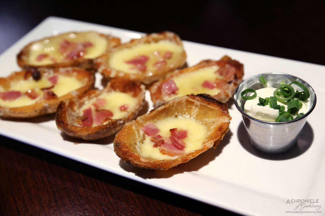 TGI Friday's - Loaded Potato Skins - melted cheddar cheese, bacon with ...